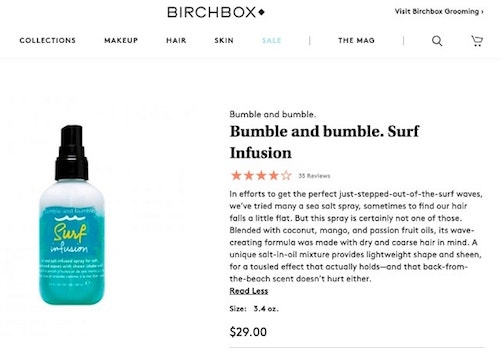 How to write product descriptions Bumble