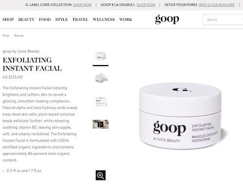 How to write product descriptions Goop