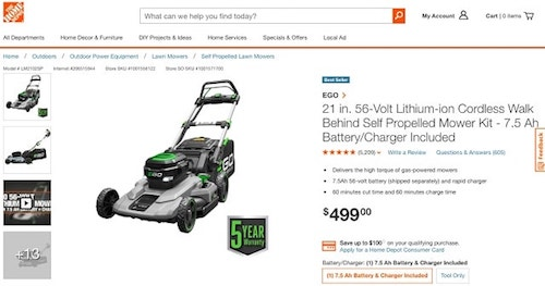 How to write product descriptions Mower