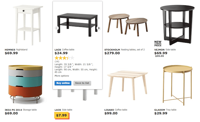 IKEA eCommerce Product Page