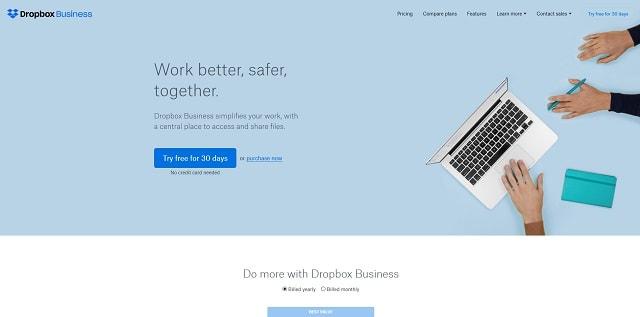 Nonprofit Landing Pages Dropbox