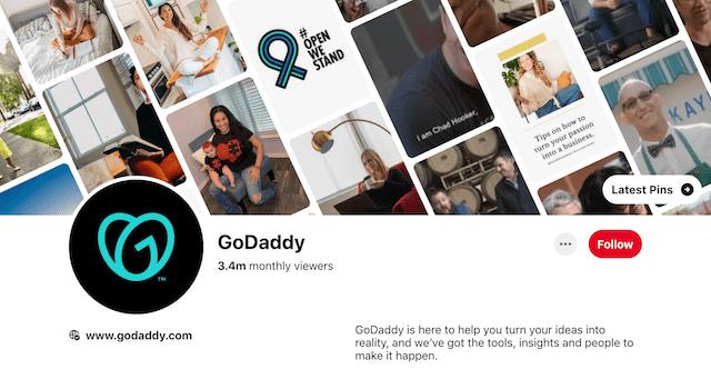 GoDaddy Pinterest Page