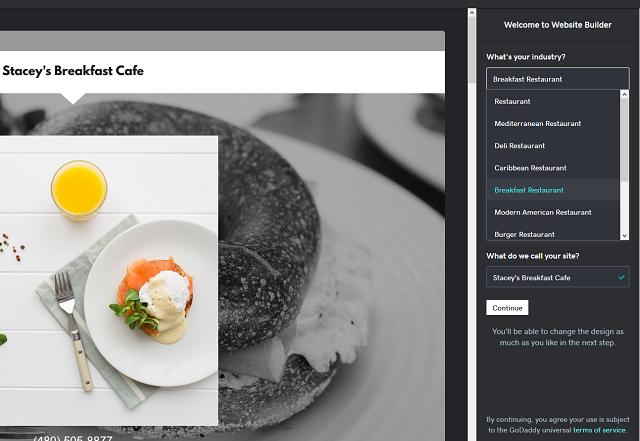 Initial Setup GoDaddy Websites + Marketing Restaurant Industry