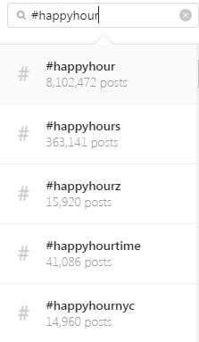 Instagram Guide Happy Hour Hashtags