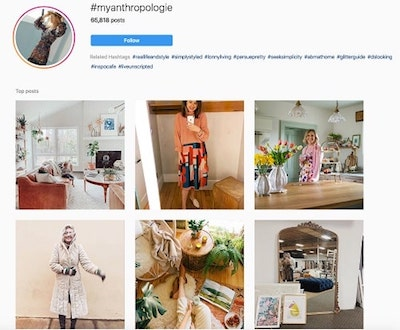Instagram Marketing Strategy Anthropologie Hashtag Example