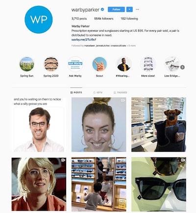 Instagram Marketing Strategy Warby Parker