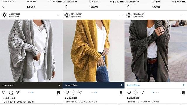 Instagram Sponsored Posts Carousel