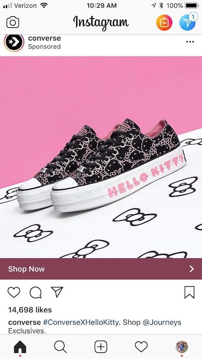 Instagram Sponsored Posts Photo Ads Converse
