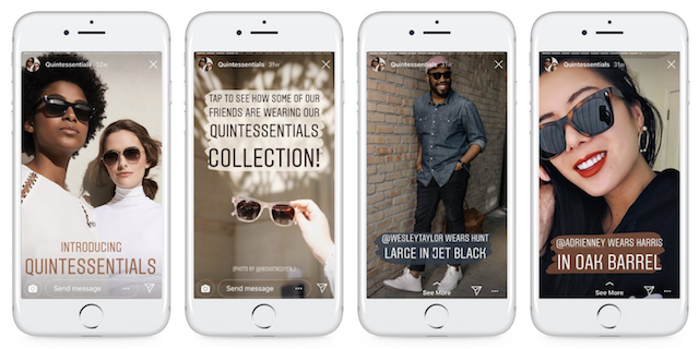 Instagram Stories Business Example Mobile