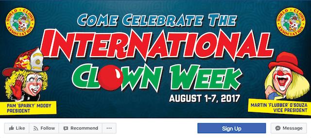 International Clown Week Facebook