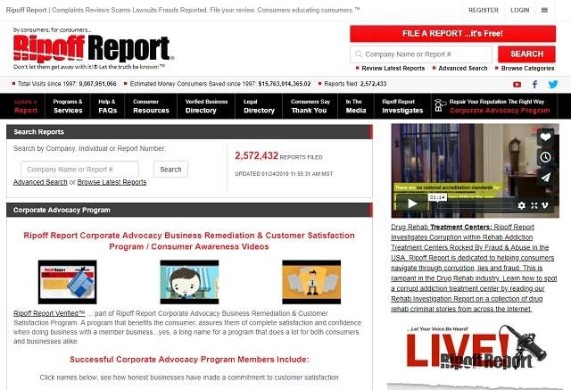 International Expansion Ripoff Report Homepage
