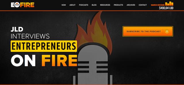 John Lee Dumas EOFire Website