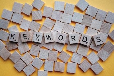 Keyword Spelled On Wooden Game Tiles Represent Google Keyword Ranking