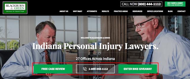 Law Firm Web Design CTA