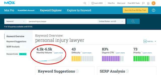 Law Firm Web Design Personal Injury Lawyer Keyword