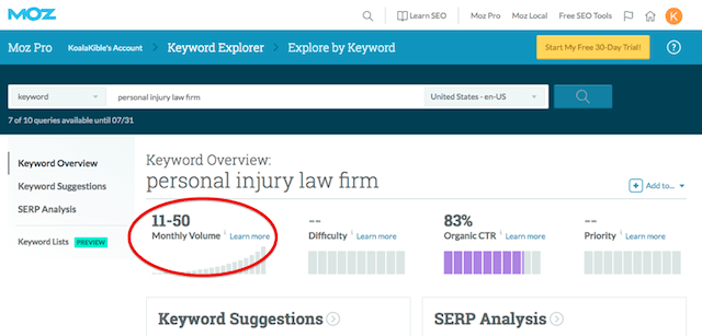 Law Firm Web Design Personal Injury Law Firm Keyword