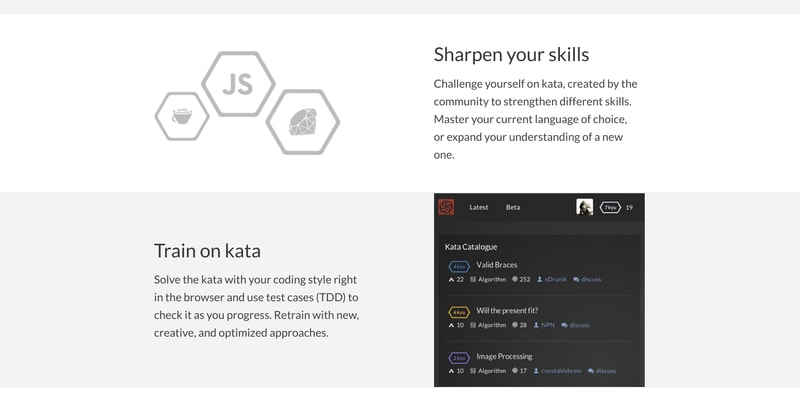 Codewars makes learning web design fun.