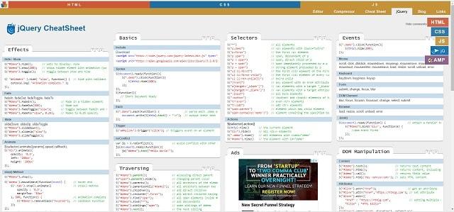 Learning Javascript Cheatsheet