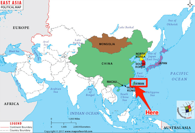 Living in Taiwan Map