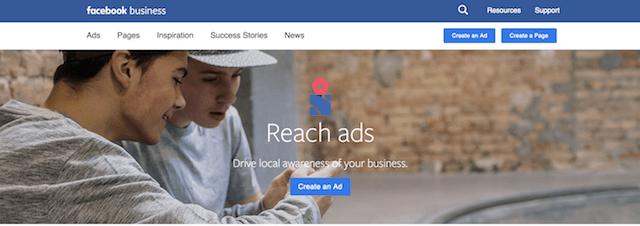 Local Awareness Ads Facebook Reach Ads