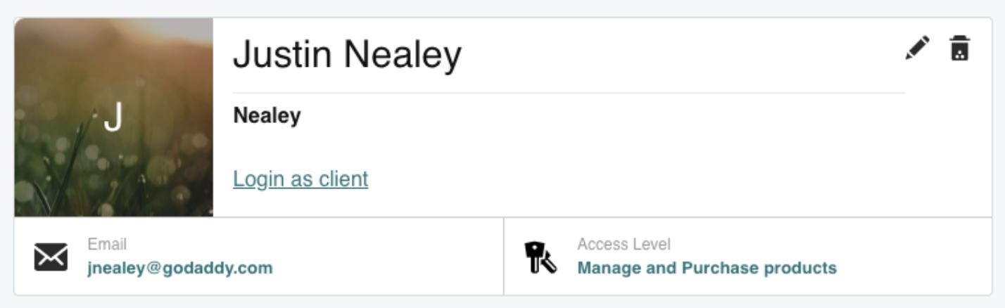 login as client