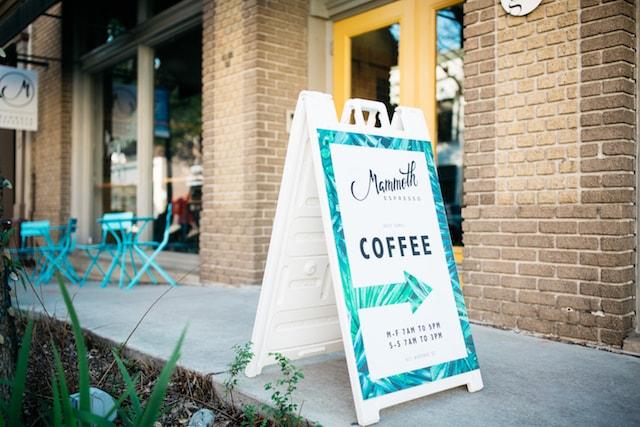 Mammoth Espresso Sign