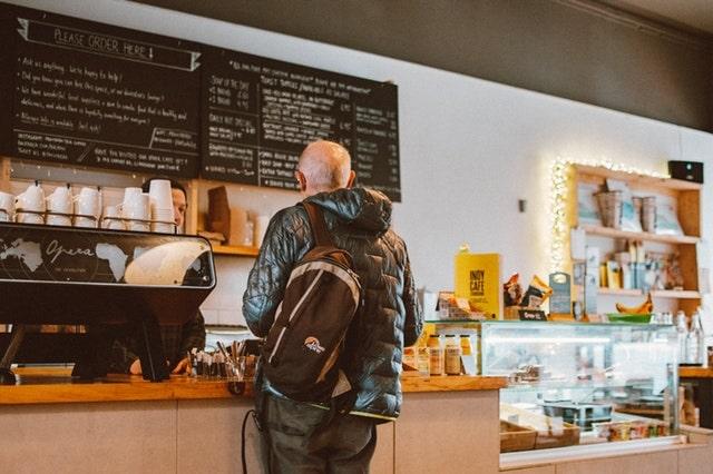 Man Buying Coffee
