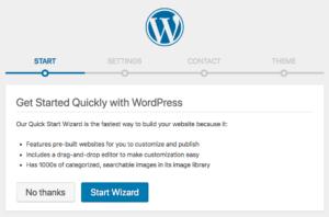 Managed WordPress bulk plans - Quick Start Wizard