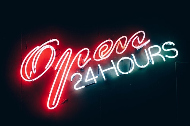 Marketing Automation Open 24 Hours Neon Sign