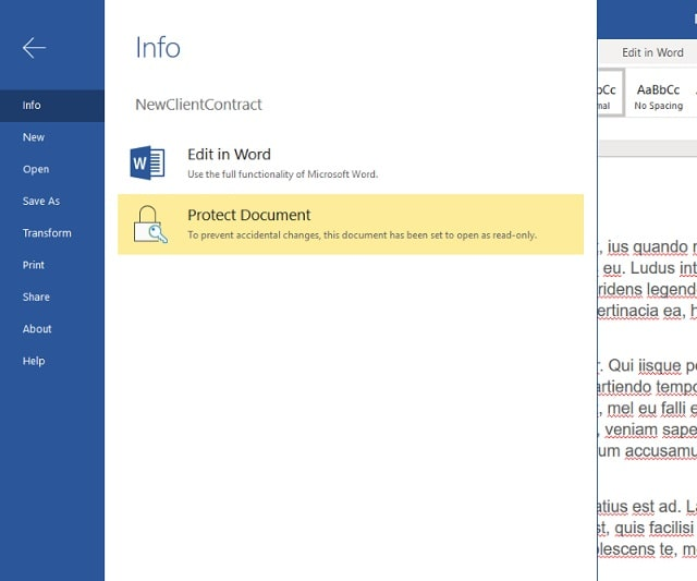 Microsoft Onedrive For Business Protect Document