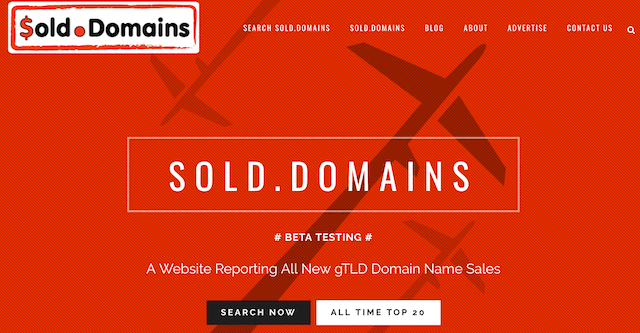New Domain Extensions Sold Domains