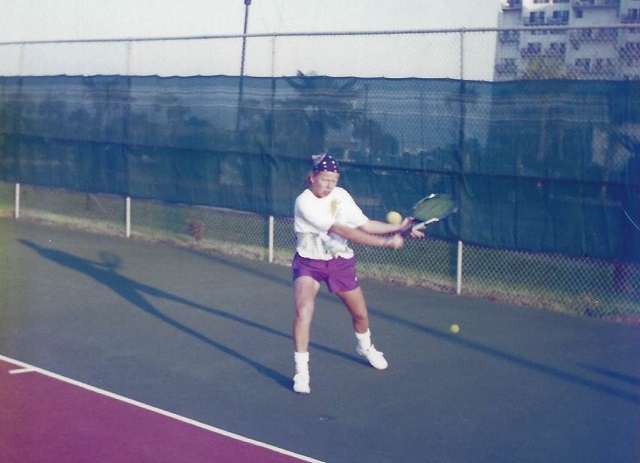 Dr. Kati Suominen Playing Tennis
