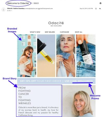 Nurture Email Subscribers Skincare Welcome Example