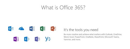 Office 365 Cloud Tools Icons