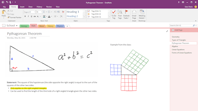 Office 365 Collaboration Tools Draw and Handwrite Notes in OneNote