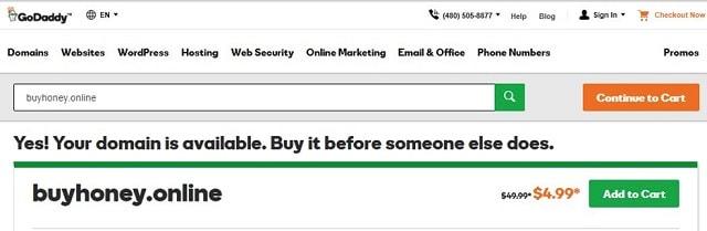 .online Domain Honey