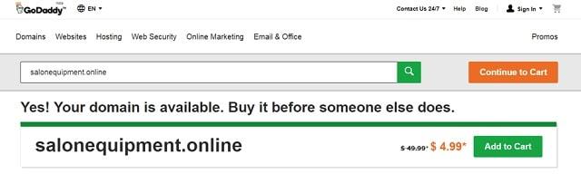 .online Domain Salon