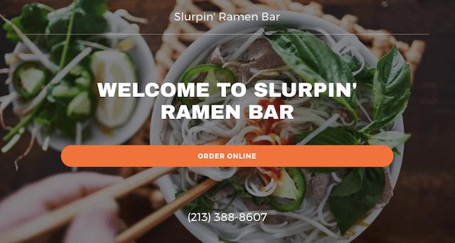 Online Food Ordering System Slurpin Ramen Bar