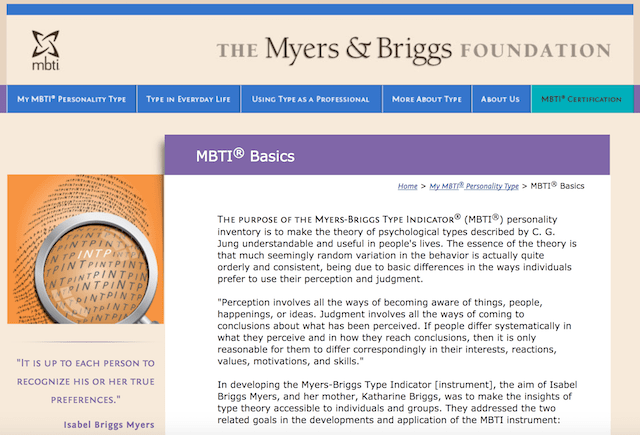 Online Personality Tests MBTII