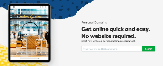 Personal Website Personal Domains from GoDaddy