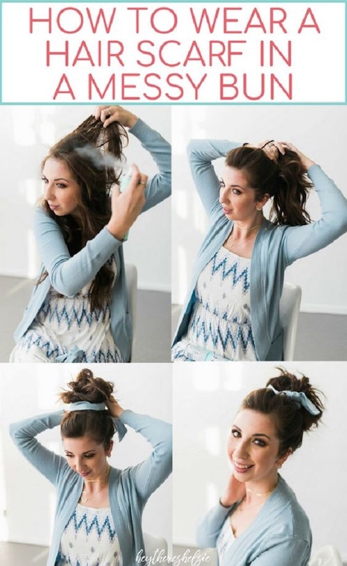 Pinterest Design Messy Bun