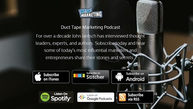 Podcasts For Entrepreneurs Duct Tape Marketing