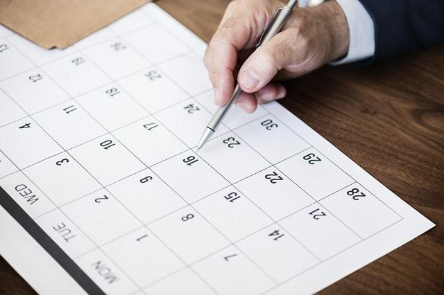 Pool Supply Store Calendar