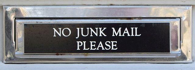 Post-Sale Customer Service Junk Mail