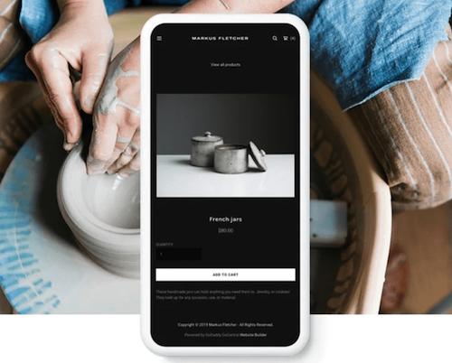 GoDaddy Websites + Marketing Screenshot