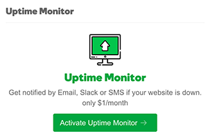 Pro Sites Uptime Monito