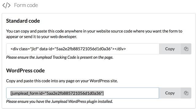 Progressive Profiling Form Code