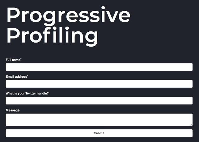 Progressive Filing Form