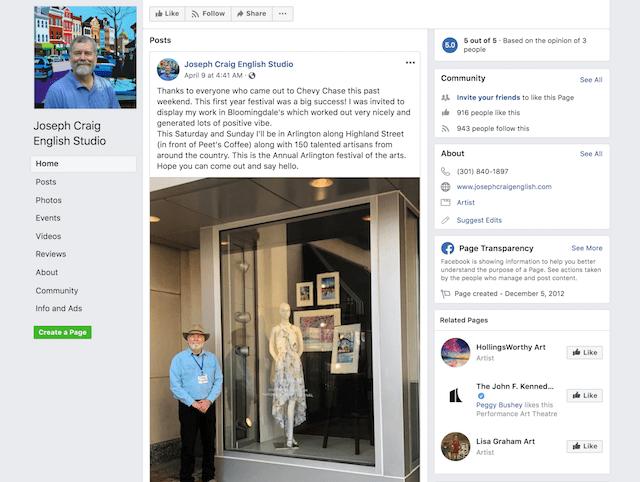 Promote Online Store Joseph Craig English Facebook