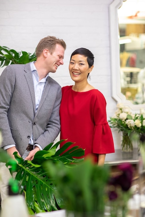 Rachel Cho Floral Design Couple